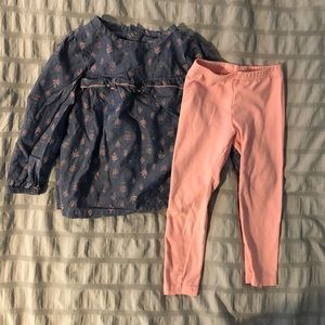 Carter's 2T toddler girls outfit